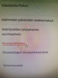 Muistipoliklinkan linkki on Rovaniemen kaupungin sivuilla.